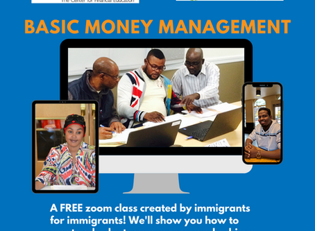 Join us on ZOOM for Basic Money Management