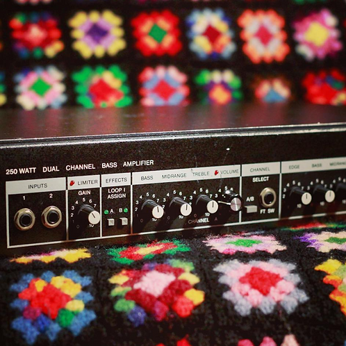 80's era Amplified Music Products BH-250 Bass Amp Head