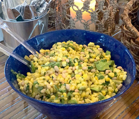 avocado + citrus + corn salad