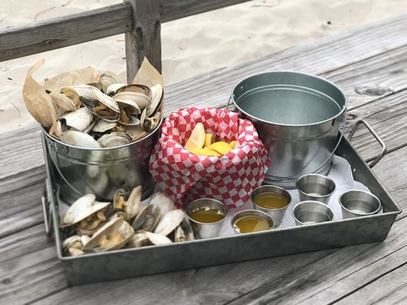 new england steamers + drawn butter