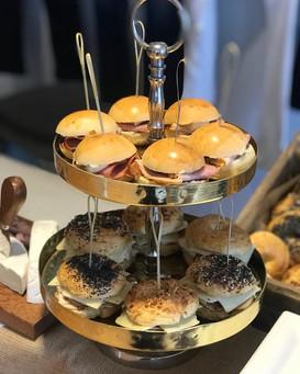 brioche bun + bagel sliders