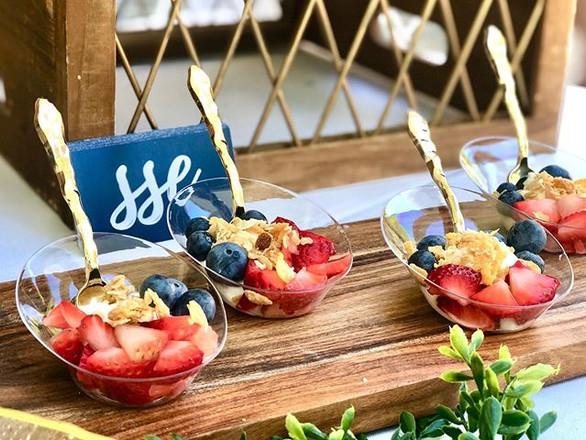 fresh fruit + gluten-free granola + greek yogurt parfait