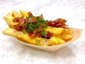 crumbled bacon + creamy cheddar + crispy french fry + chopped chive