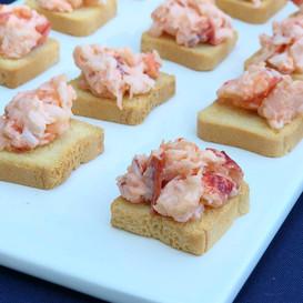 lightly dressed lobster salad canape