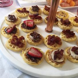 assorted baby buttermilk waffle crostini