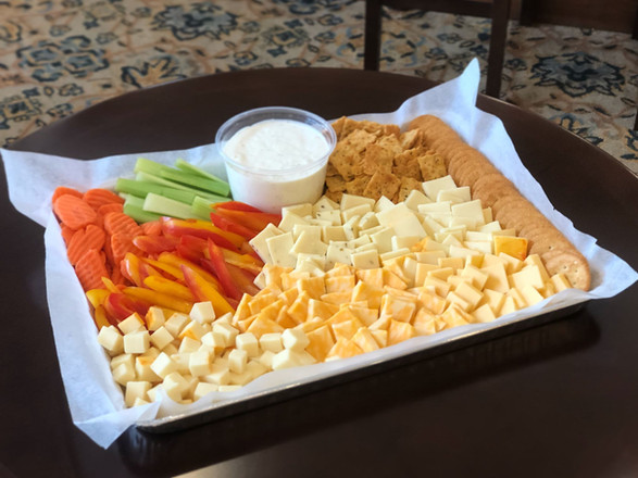 cheese + crackers + crudites