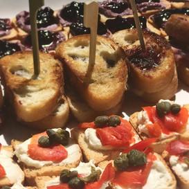 canape + petite baguette melts