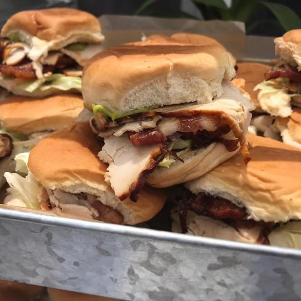 turkey + bacon + lettuce country sliders