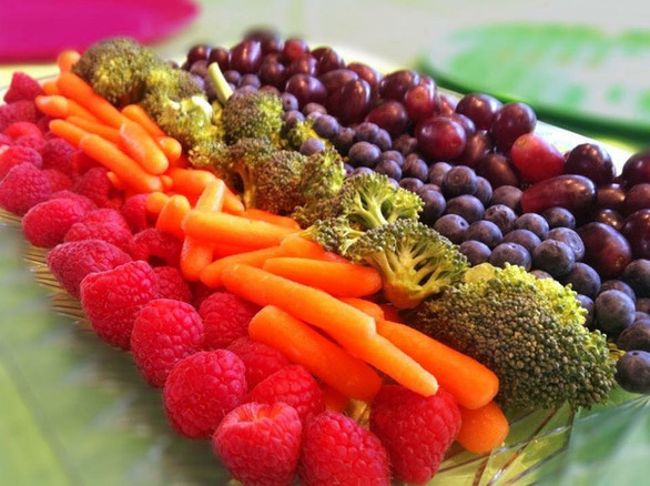 rainbow fruit + veggie board