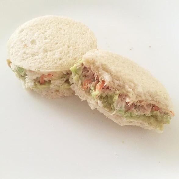 round cut tea sandwiches
