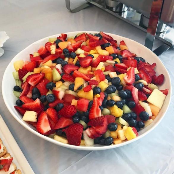 fresh cut season fruit + berries