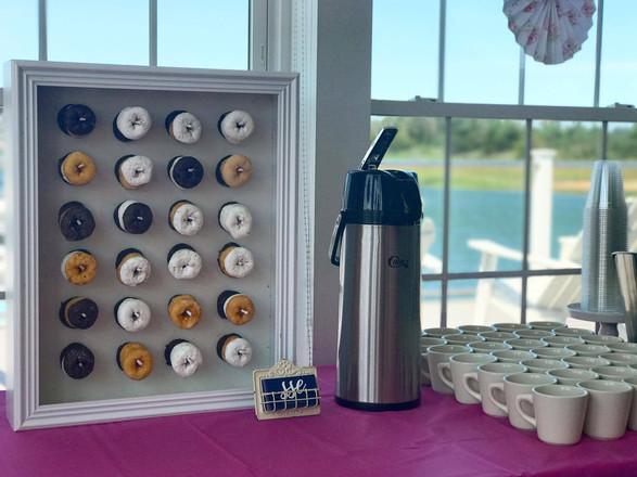 mini donuts + coffee station