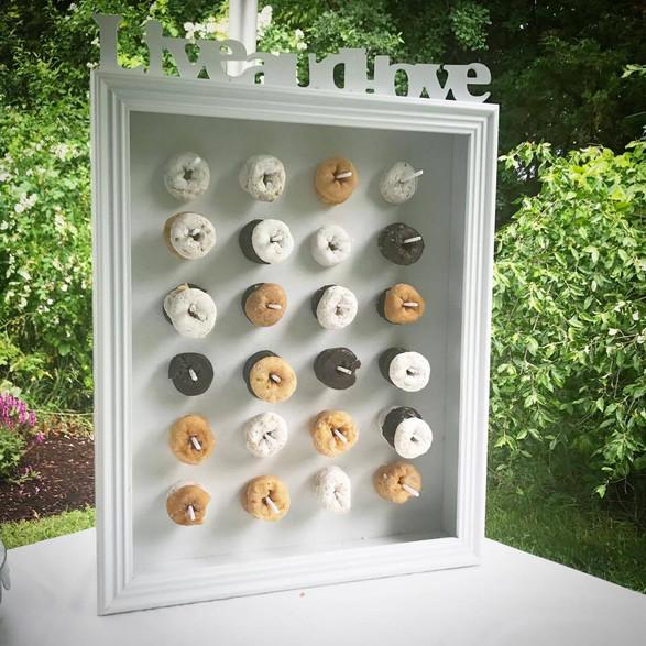 mini donut display wall