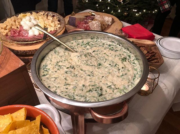 vegan artichoke + spinach dip
