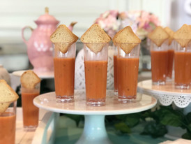 creamy tomato basil soup + truffle petite toast