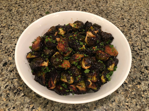 oven roasted maple brussels sprouts