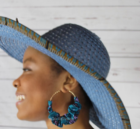 CULTURED Earrings and CECILE Hat