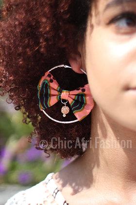 CASEY Embellished Hoop Earrings
