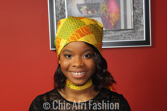 AFI Head Wrap and Choker Set