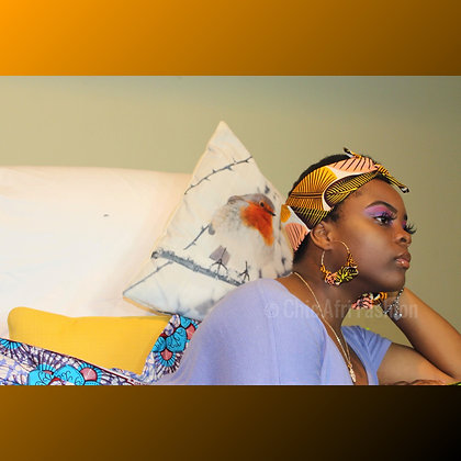 CULTURED Earrings and Mini Headwrap Set