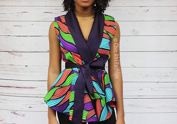 ADAMA Sleeveless Jacket_Purple