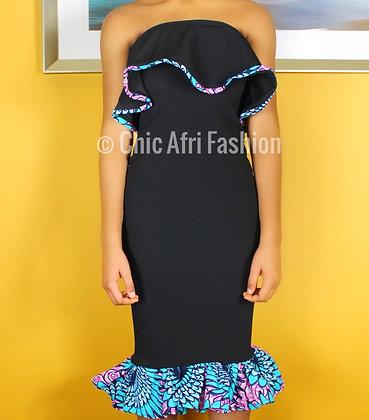 BAINA Ruffle Bandeau Dress