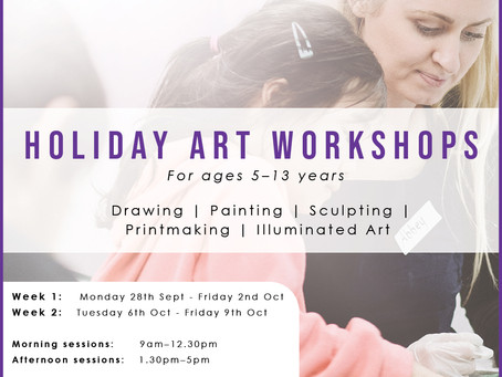 Holiday Art Workshops -Bookings Open