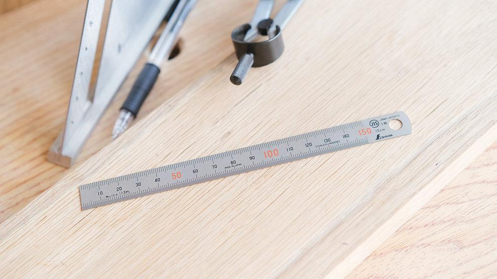 Shinwa Stainless Steel Ruler 150 mm.