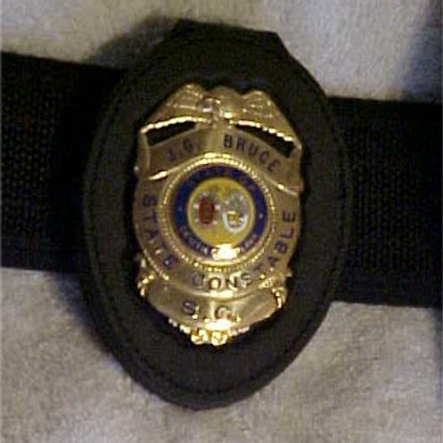 DUTY BELT BADGE HOLDER - BH716