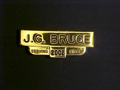 NAMETAG with SERVICE YEAR  (C600)