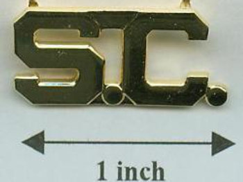 SC COLLAR PINS  -- PAIR