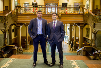 Drs. Fahad Razak and Amol Verma presented GEMINI during a CAHO event at Queen's Park on Oct. 25.