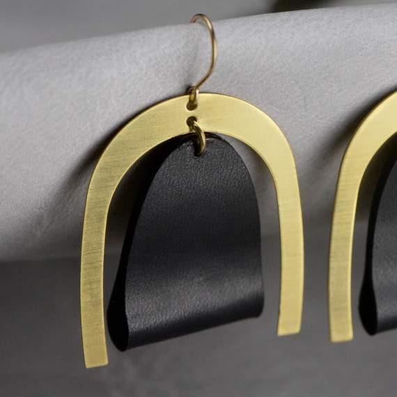 Oversized Modern Leather Earrings .jpg