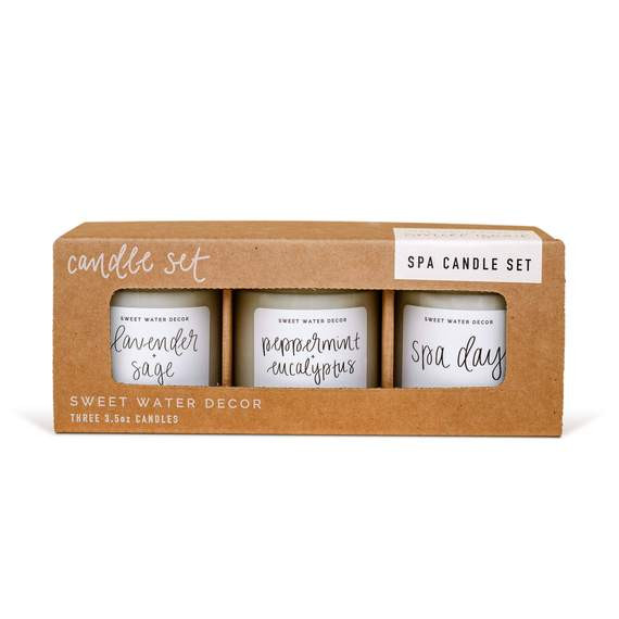 Spa Mini Soy Candle Set