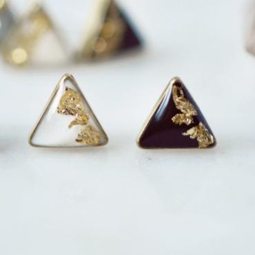 Gold Leaf Accented Triangle Earrings.jpg