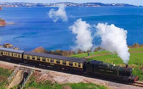 Paignton Steam Train - Great views of Torbay's coast