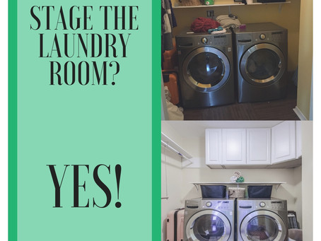 Stage the laundry room?