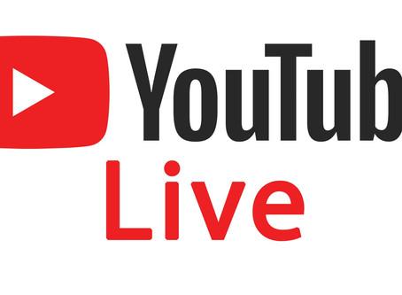 5/26 (日) YouTube Live のお知らせ