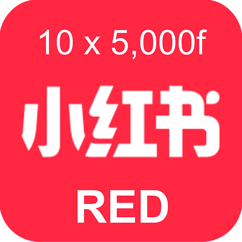10 RED Book Review (小红书) 5,000 followers