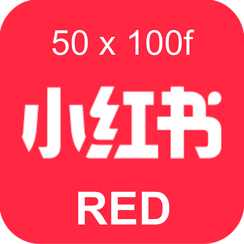 50 RED Book Review (小红书) 100 followers