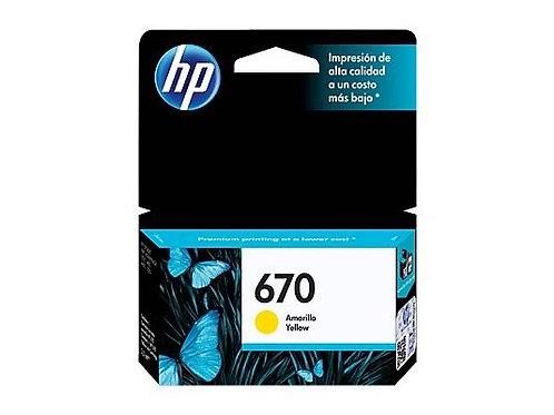 TINTA HP 670 AMARILLO P/ INK ADVANTAGE 3525, 4615, 4625, 552 (CZ116AL)