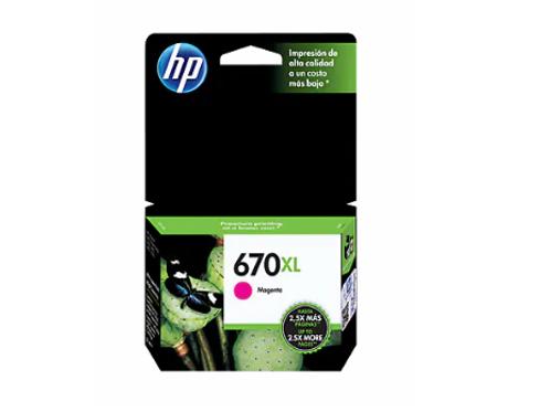 TINTA HP 670XL MAGENTA P/ 3525, 4615, 4625, 5525 (CZ119AL)