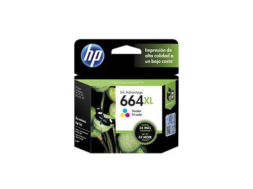 TINTA HP 664XL TRICOLOR ALTO RENDIMIENTO INK ADV 2135, 1115 (F6V30AL)
