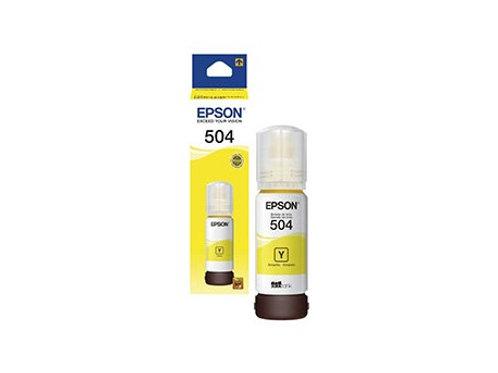 BOTELLA DE TINTA EPSON  AMARILLA T504 (T504420-AL)