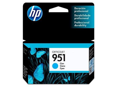 TINTA HP 951 CYAN P/OJ PRO 8100, PRO 8600 (CN050AL)