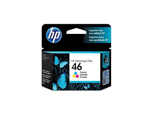 TINTA HP 46 TRICOLOR  INK ADV 2529, 4729 (CZ638AL)