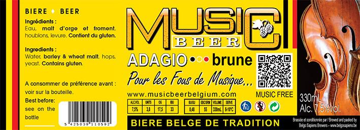 MUSIC BEER-Adagio-Brune