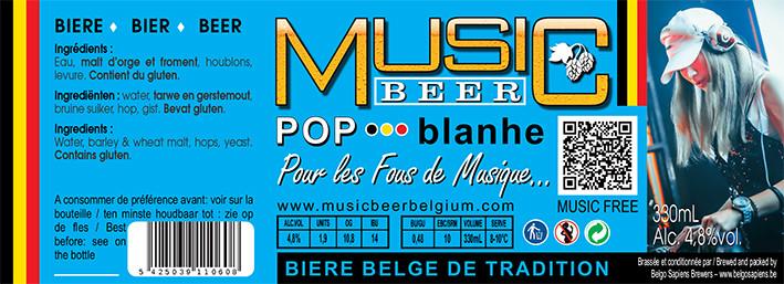 MUSIC BEER-Pop-Blanche