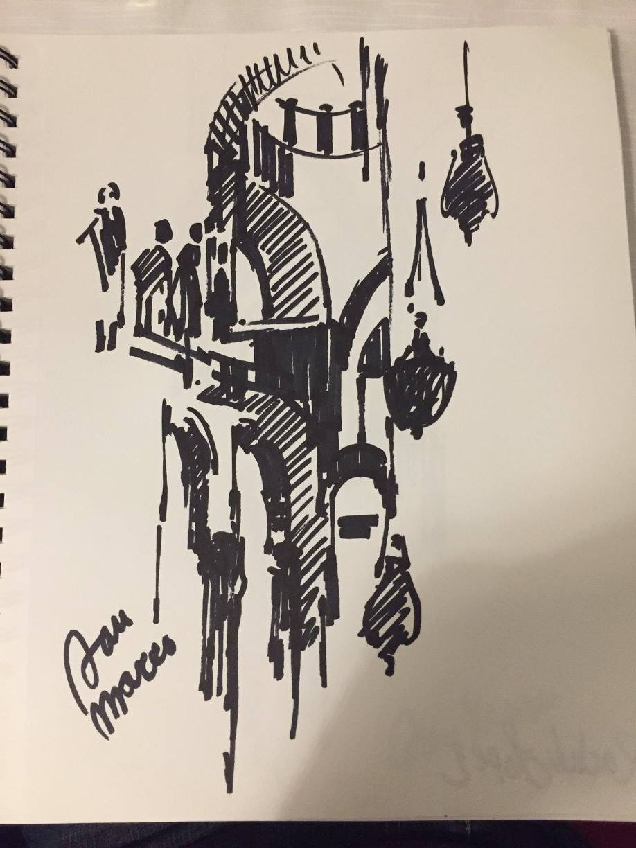 Sharpie Sketch by Father Bruno