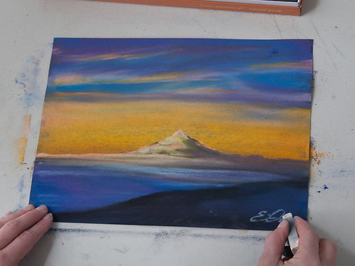 Mountain at Sunset PDF Lesson